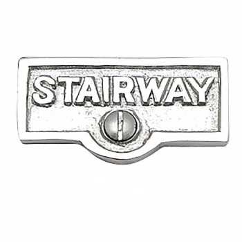 <PRE>25 Switch Plate Tags STAIRWAY Name Signs Labels Chrome Brass </PRE>zoom1