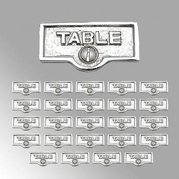 25 Switch Plate Tags TABLE Name Signs Labels Chrome Brass Switch Plate Labels Switch Plate ID Labels Switch Plate Label