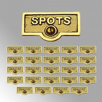 <PRE>25 Switch Plate Tags SPOTS Name Signs Labels Lacquered Brass </PRE>zoom2