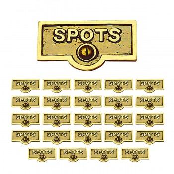 <PRE>25 Switch Plate Tags SPOTS Name Signs Labels Lacquered Brass </PRE>zoom1