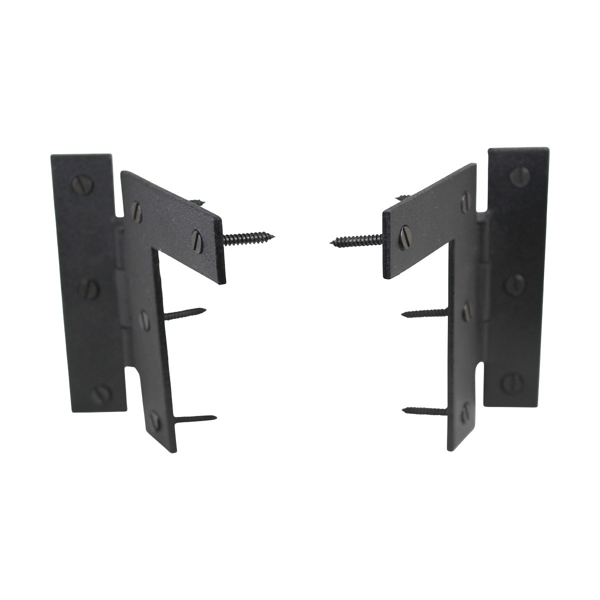 Pair Left and Right HL Wrought Iron Cabinet Hinge 3.5 H, 38 Offset Pack of 4 Door Hinges Door Hinge Solid Brass Hinge
