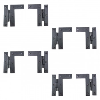 "<PRE>Pair Left and Right H-L Wrought Iron Cabinet Hinge 3.5inch H, 3/8"" Offset Pack of 4</PRE>zoom1"