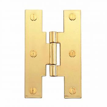 Flush Bright Solid Brass H Hinge Flush Brass 3