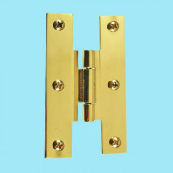 Door Hinges - H Offset Hinge Bright Brass 3 in. x 2 in. by the Renovator's Supply