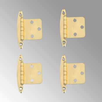<PRE>4 Cabinet Hinge Semi-concealed Solid Brass 1.75&quot; W </PRE>
