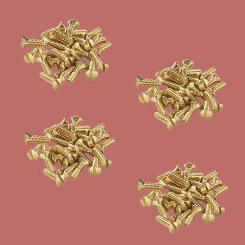 <PRE>Brass Switchplate Screws 6/32 x 1/2&quot; Slotted Oval Head Pack of 100</PRE>