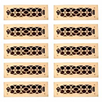 10 Register Bright Solid Brass Cast Brass Register