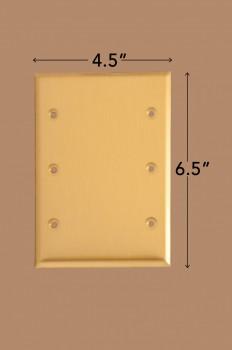 spec-<PRE>10 Switchplate Brushed Brass Beveled Triple Blank </PRE>