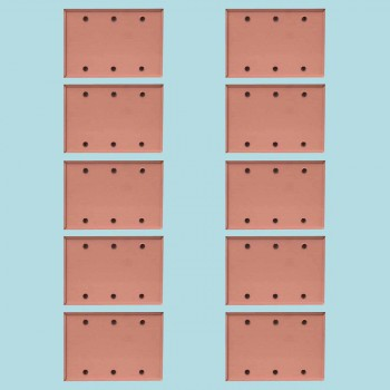 <PRE>10 Switchplate Brushed Solid Copper Triple Blank </PRE>zoom2