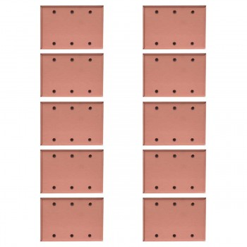 <PRE>10 Switchplate Brushed Solid Copper Triple Blank </PRE>zoom1