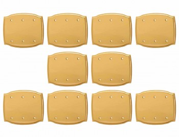 10 Switchplate Bright Solid Brass Triple Blank Switch Plate Wall Plates Switch Plates