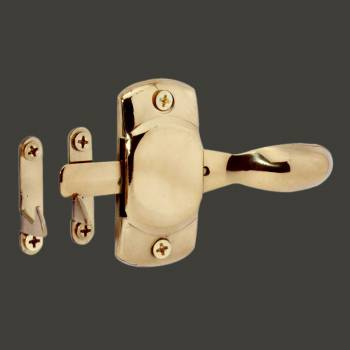 spec-<PRE>Hoosier Cabinet Latch Finish Brass </PRE>