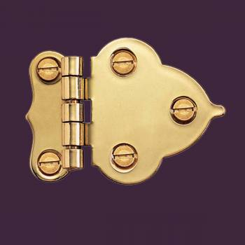 Door Hinges - Hoosier Offset Hinge Bright Brass by the Renovator's Supply