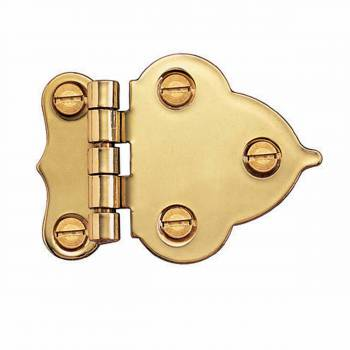 Hoosier Offset Hinge Bright Brass