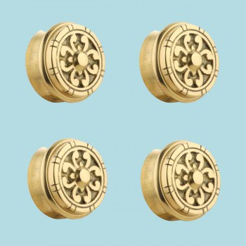 <PRE>4 Fits 2 inch Polished Solid Brass Fits 2 in. RSF Brass Decorative End P</PRE>zoom2