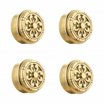 4 Fits 2 inch Polished Solid Brass Fits 2 in. RSF Brass Decorative End P
