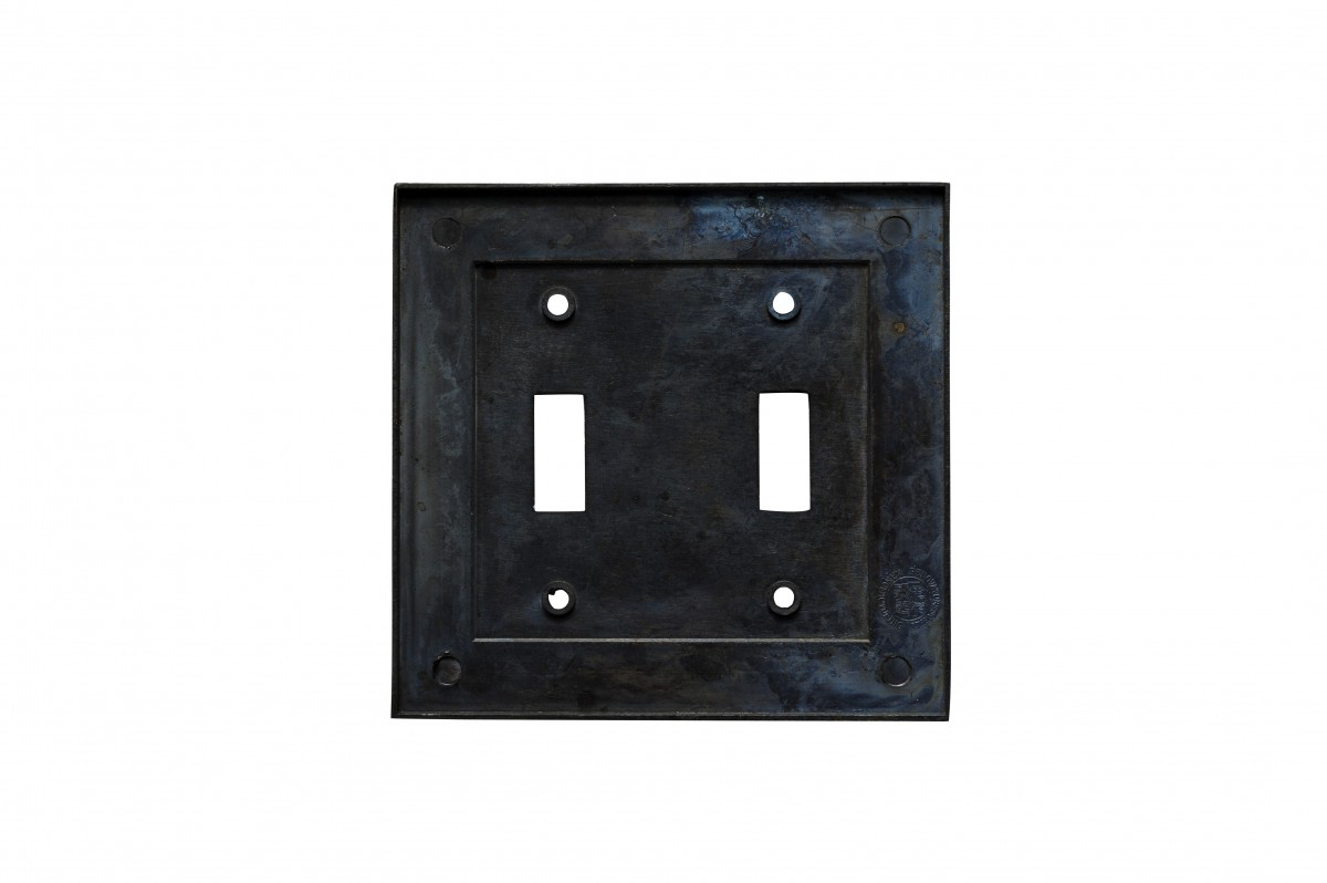 10 Victorian Switch Plate Double Toggle Antique Solid Brass Switch Plate Wall Plates Switch Plates