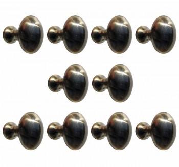 <PRE>10 Cabinet Knob Antique Solid Brass </PRE>