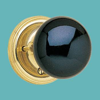 <PRE>Privacy Set Door Knob Set Black Porcelain 2 3/8'' Backset </PRE>zoom2