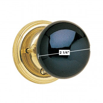 spec-<PRE>Privacy Set Door Knob Set Black Porcelain 2 3/8'' Backset </PRE>