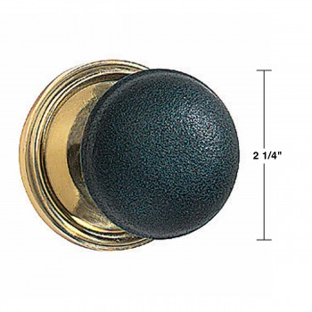 spec-<PRE>Pair Black Solid Brass Door Knob Brass Shanks </PRE>