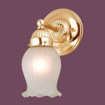 Frosted Lily Sconce - Floor Heat Registers, Aluminum, steel, wood and brass Floor heat registers info & free shipping by Renovator's Supply.