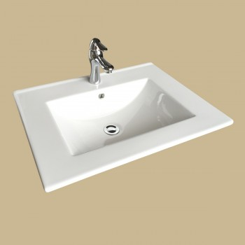 <PRE>Bathroom Square Drop In Sink with Faucet and Drain, Self Rimming</PRE>