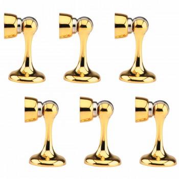 6 Doorstop Holder Bright Gold ZINC ALLOY Magnetic Doorstop Holder Gold F