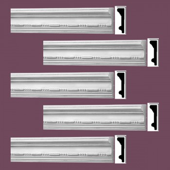 <PRE>Renovator's Supply Crown Molding White Urethane Viva Ornate Design 5 Pieces Totaling 398.75inch Length</PRE>zoom2