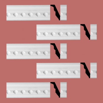 <PRE>Renovator's Supply Ornate Cornice White Urethane Golfini Design 5 Pieces Totaling 472.5inch Length</PRE>zoom2