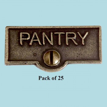 <PRE>25 Switch Plate Tags PANTRY Name Signs Labels Cast Brass </PRE>zoom2