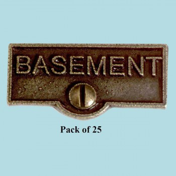 25 Switch Plate Tags BASEMENT Name Signs Labels Cast Brass Switch Plate Labels Switch Plate ID Labels Switch Plate Label