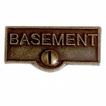 <PRE>25 Switch Plate Tags BASEMENT Name Signs Labels Cast Brass </PRE>zoom1