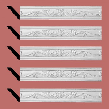 <PRE>Renovator's Supply Ornate Cornice White Urethane Ava Design 5 Pieces Totaling 396.25inch Length</PRE>zoom2