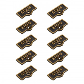 <PRE>10 Switch Plate Tags STEPS Name Signs Labels Cast Brass </PRE>zoom1
