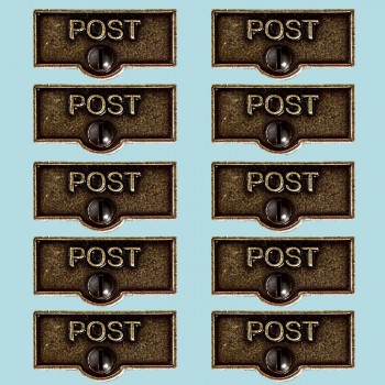 <PRE>10 Switch Plate Tags POST Name Signs Labels Cast Brass </PRE>zoom2