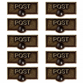 <PRE>10 Switch Plate Tags POST Name Signs Labels Cast Brass </PRE>zoom1
