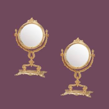 <PRE>Victorian Antique Vanity Mirror Cast Brass 12 1/4&quot; H Pack of 2</PRE>