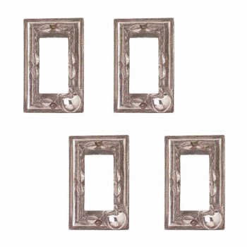 4 Switchplate Antique Solid Brass Apple GFI Switch Plate Wall Plates Switch Plates