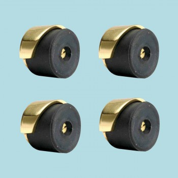 <PRE>4 Door Bumpers Polished Brass Floor/Wall Mount Set of 4 </PRE>zoom2