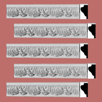 Renovators Supply Ornate Cornice White Urethane Bebel Design 5 Pieces Totaling 393.125 Length White PrePrimed Urethane Crown Cornice Molding Cornice Crown Home Depot Ekena Millwork Molding Wall Ceiling Corner Cornice Crown Cove Molding