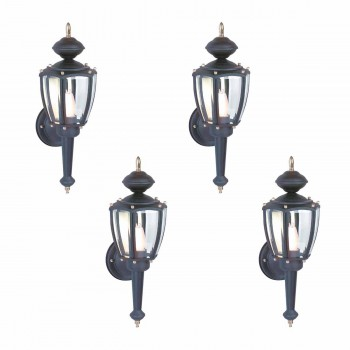 4 Outdoor Lighting Black Aluminum 5 Panel Outdoor Lamp Outdoor Light Outside Light Outdoor Lights