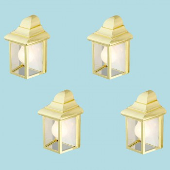 4 Outdoor Lighting Bright Brass Light Outdoor Light Outside Light Outdoor Lights