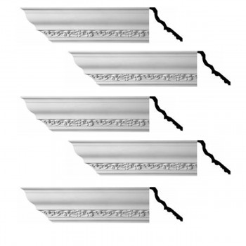 <PRE>Renovator's Supply Cornice White Urethane Sabine Ornate Design 5 Pieces Totaling 470inch Length</PRE>zoom1