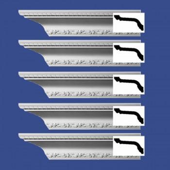 <PRE>Renovator's Supply  Ornate Cornice White Urethane Design 5 Pieces Totaling 470inch Length</PRE>zoom2