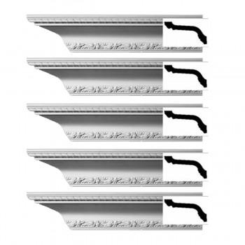 <PRE>Renovator's Supply  Ornate Cornice White Urethane Design 5 Pieces Totaling 470inch Length</PRE>zoom1