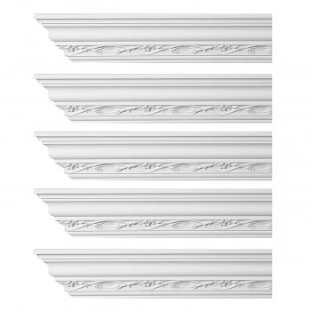 <PRE>Renovator's Supply Ornate Cornice White Urethane Elisabetta Design 5 Pieces Totaling 480inch Length</PRE>zoom1