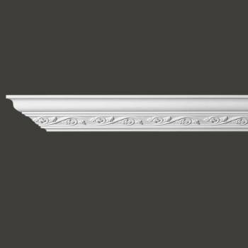 Renovators Supply Ornate Cornice White Urethane Lunetta Design 5 Pieces Totaling 480 Length White PrePrimed Urethane Crown Cornice Molding Cornice Crown Home Depot Ekena Millwork Molding Wall Ceiling Corner Cornice Crown Cove Molding