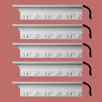 <PRE>Renovator's Supply Cornice White Urethane Daria Ornate Design 5 Pieces Totaling 470inch Length</PRE>zoom2