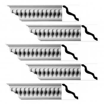 <PRE>Renovator's Supply Ornate Cornice White Urethane Ivy Bridge Design 5 Pieces Totaling 480inch Length</PRE>zoom1